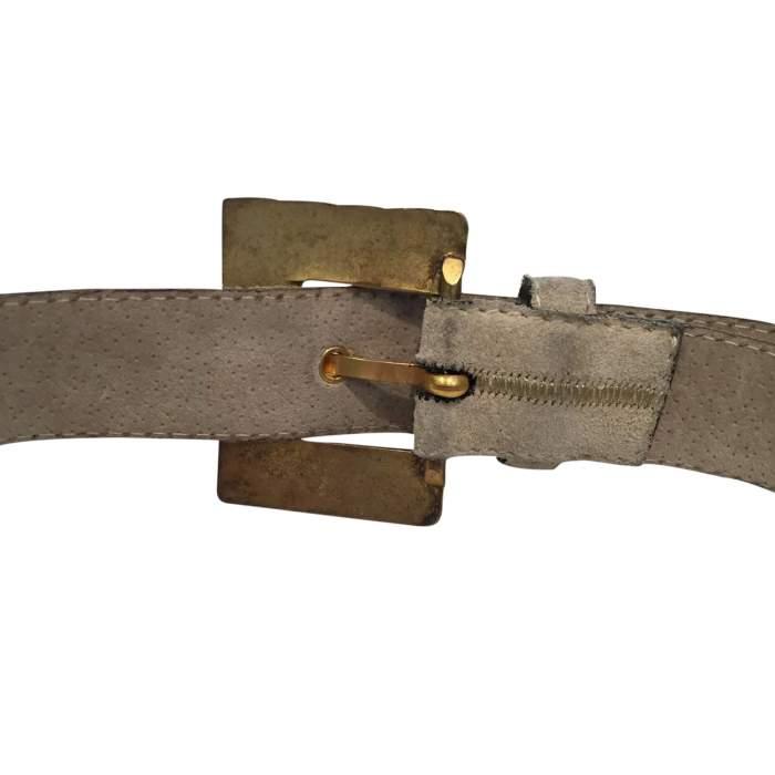 Vintage 1990 gray suede Belt-6