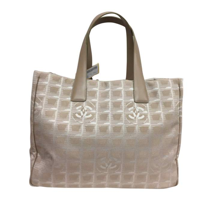 Beige canvas tote Bag-0