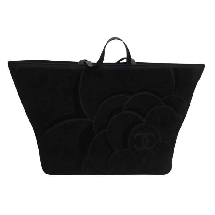 Black leather tote Bag-0