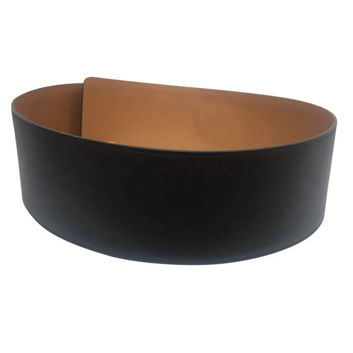 Wide black leather Belt-2
