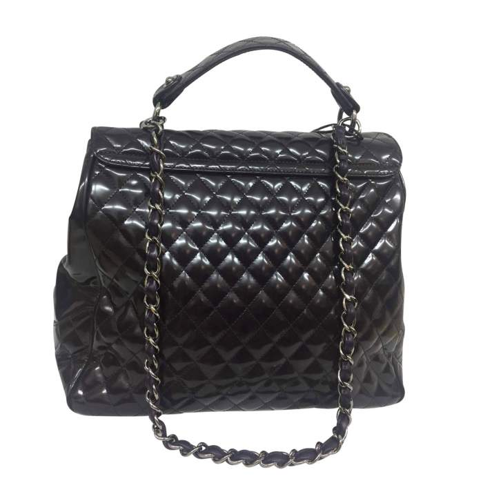 Large quilted patent leather Bag-2