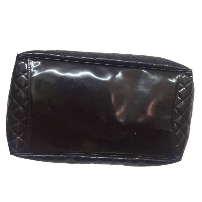 Large quilted patent leather Bag-6