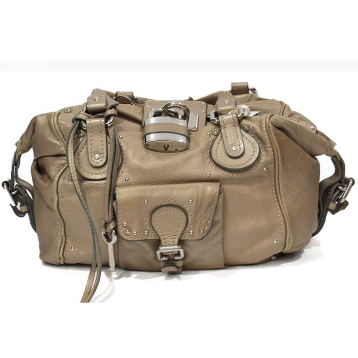 Beige Paddington Bag-0