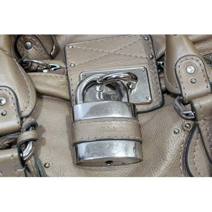 Beige Paddington Bag-10