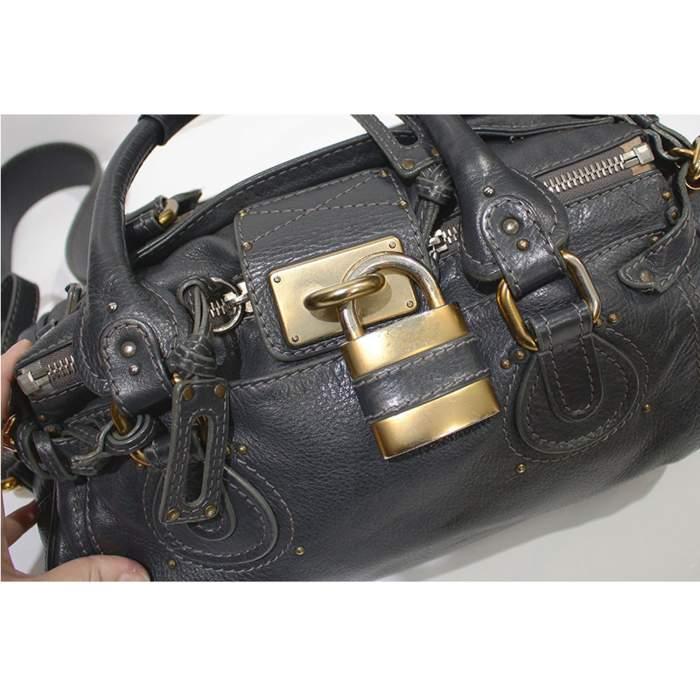 Gray paddington Bag-8