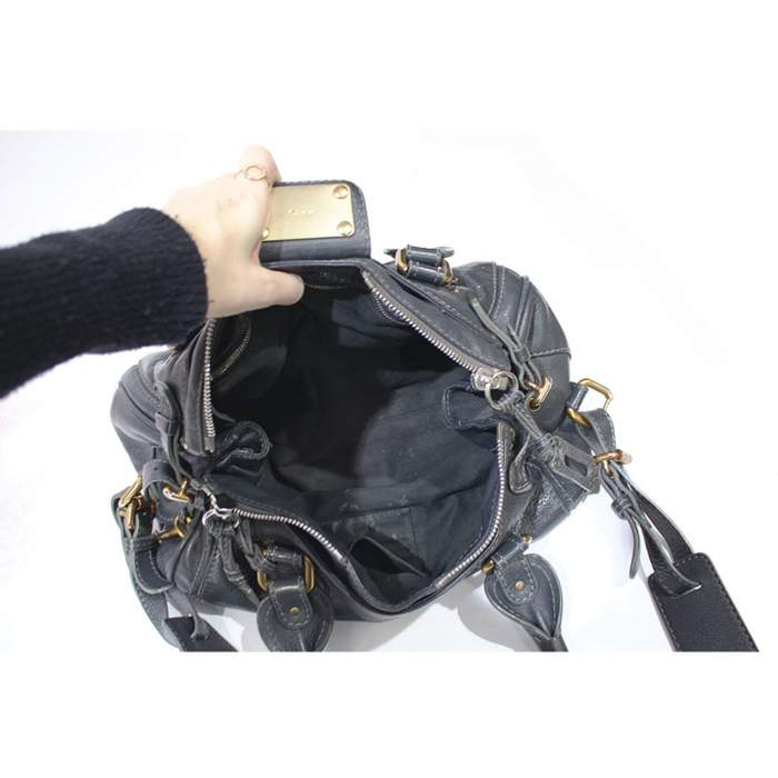 Gray paddington Bag-10