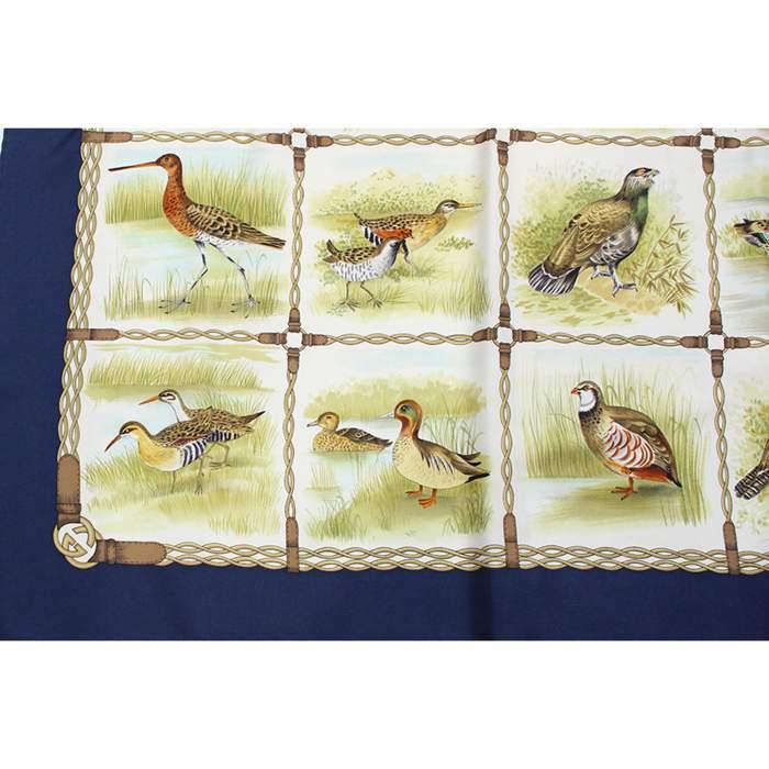 Green birds Scarf-4