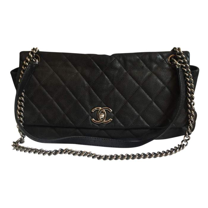 Black grained leather Bag-0