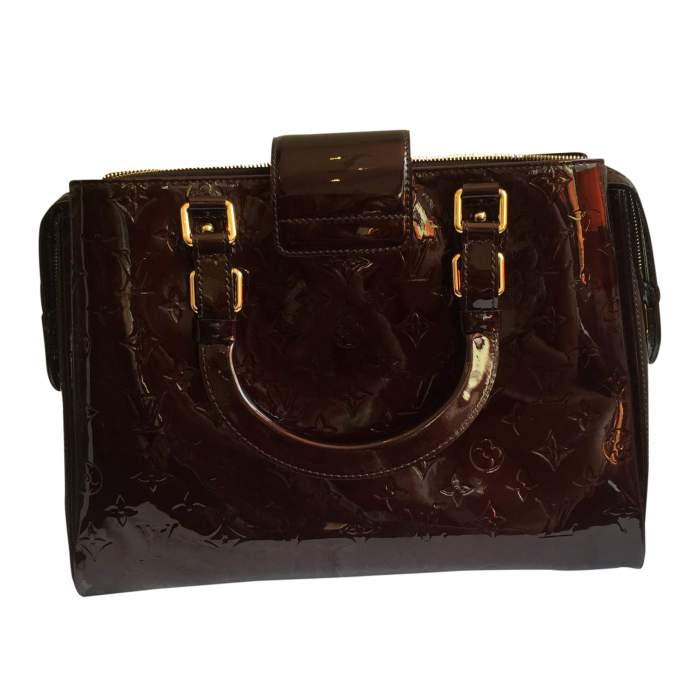 Burgundy patent leather Bag-2