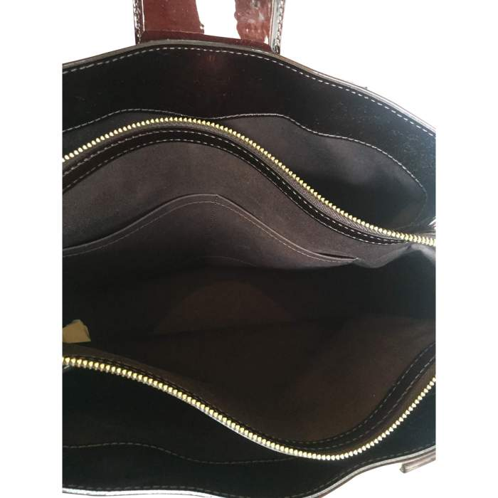 Burgundy patent leather Bag-8