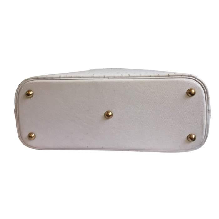 Bolide White Ostrich Handbag-8