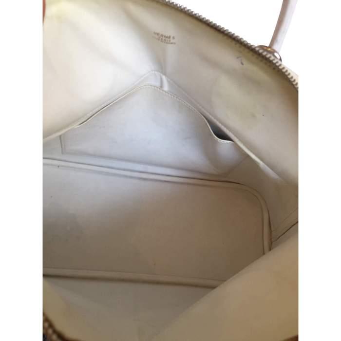 Bolide White Ostrich Handbag-10