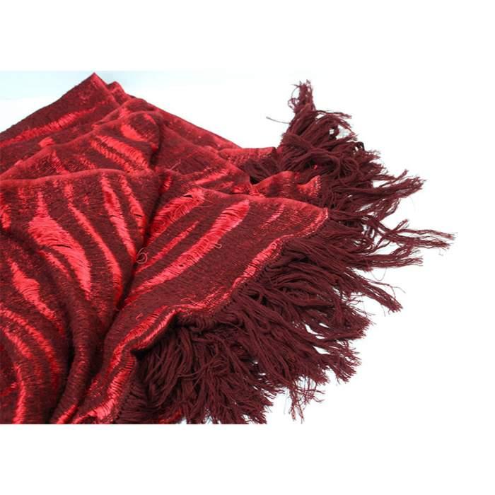 Yak wool red Scarf-2