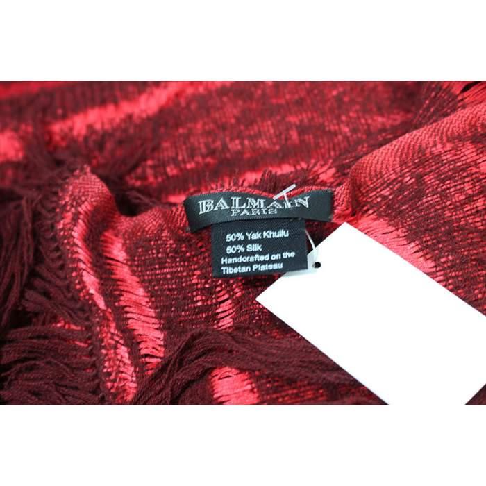 Yak wool red Scarf-4