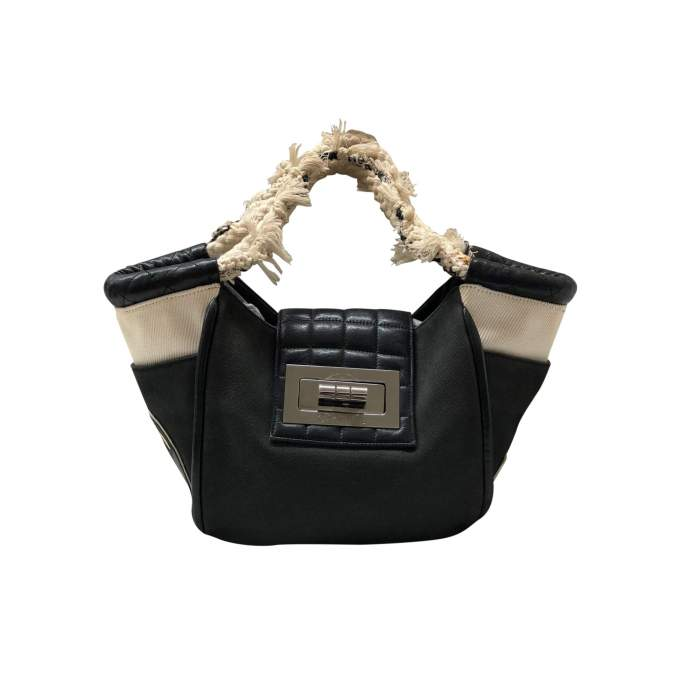 Small black tote Bag -0