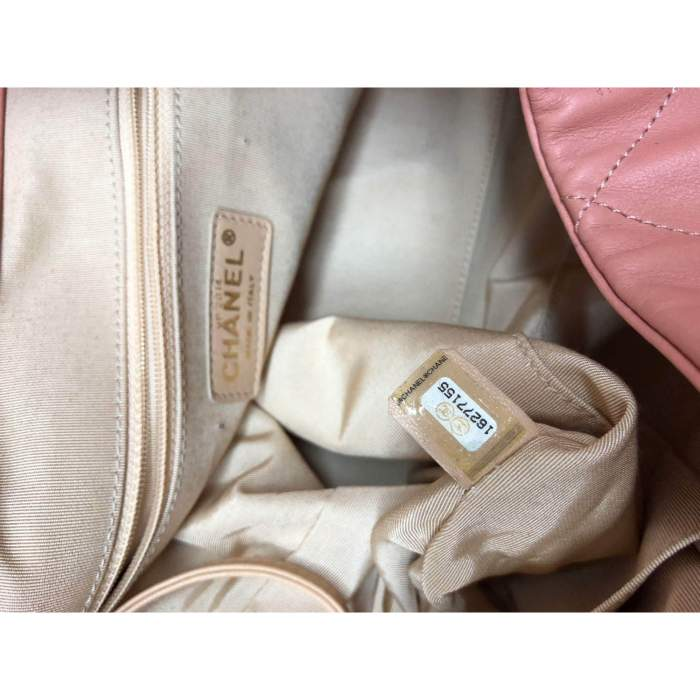 Salmon large leather tote Bag-10