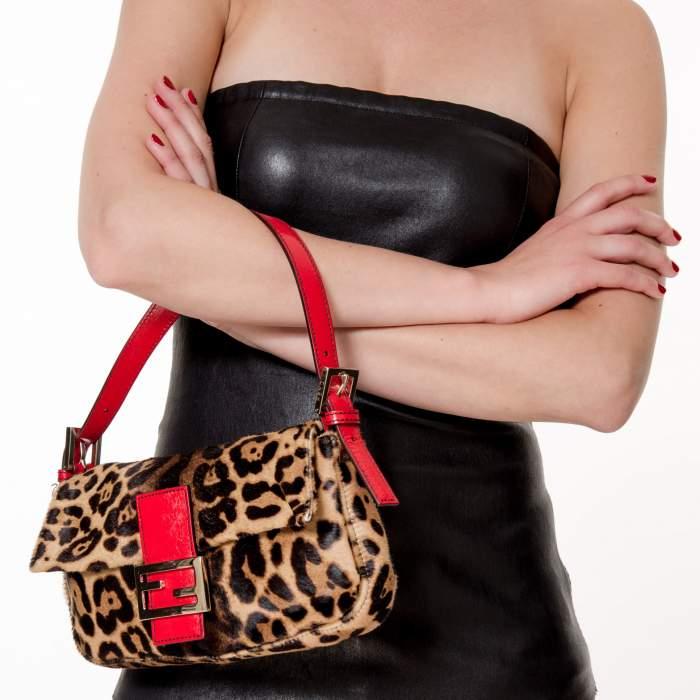 Baguette leopard printed Bag -2