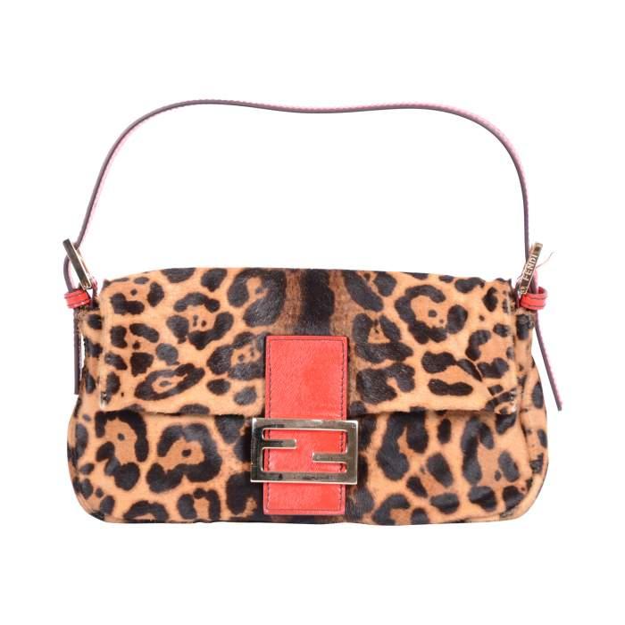 Baguette leopard printed Bag -0
