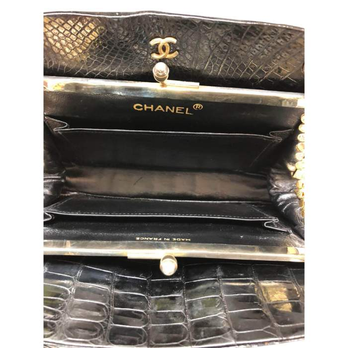 Small black crocodile Bag-8