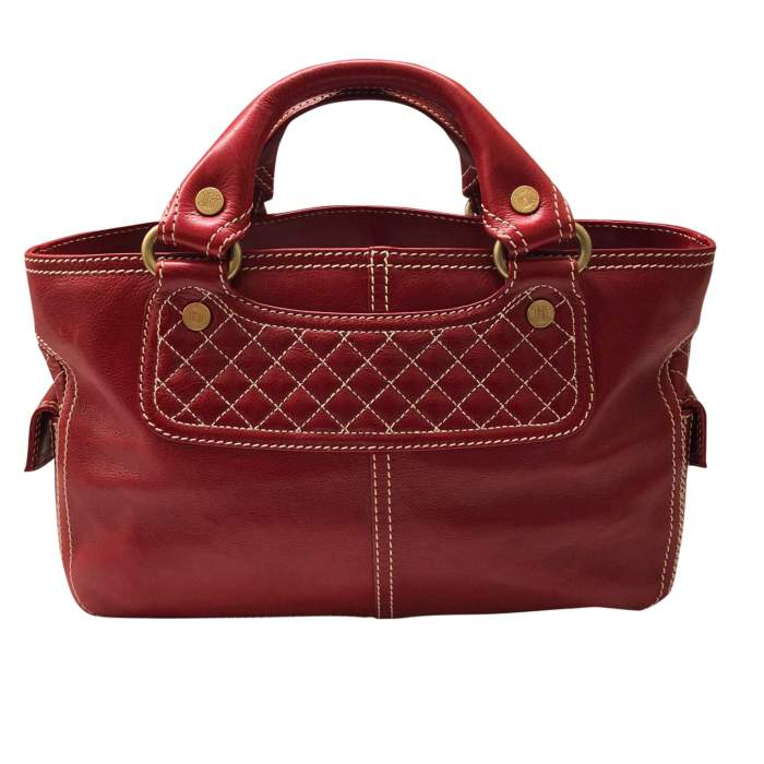 Red leather boogie Bag-2