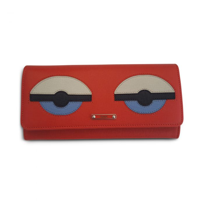 Saffiano Monster Continental Wallet Poppy -0