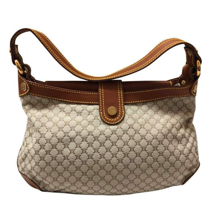 Gold leather monogram canvas Bag -2