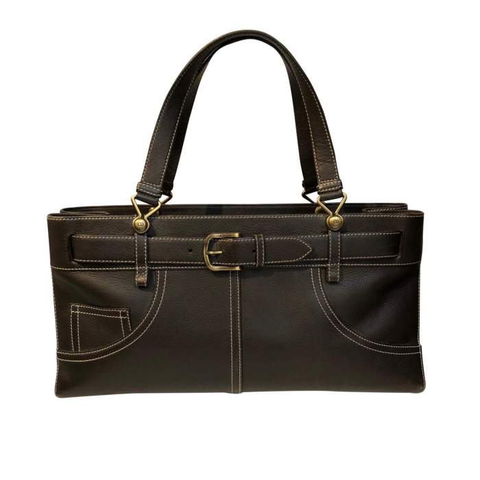 Chocolate leather Bag-0