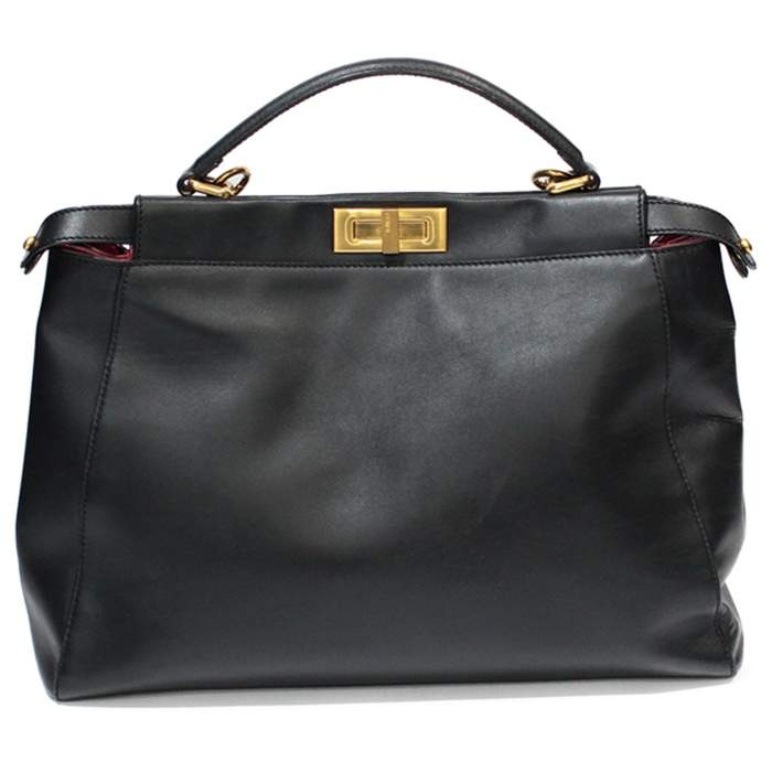 Peekaboo black leather Bag-0