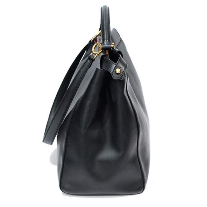 Peekaboo black leather Bag-4