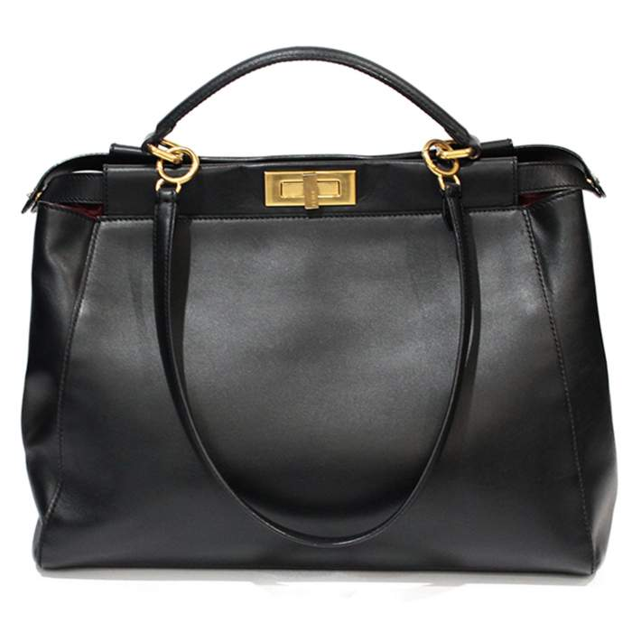 Peekaboo black leather Bag-2