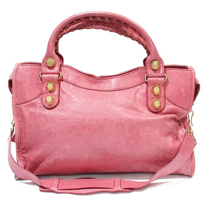 Pink leather city Bag-2