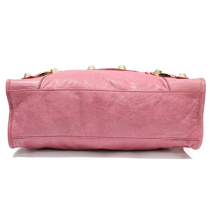 Pink leather city Bag-4