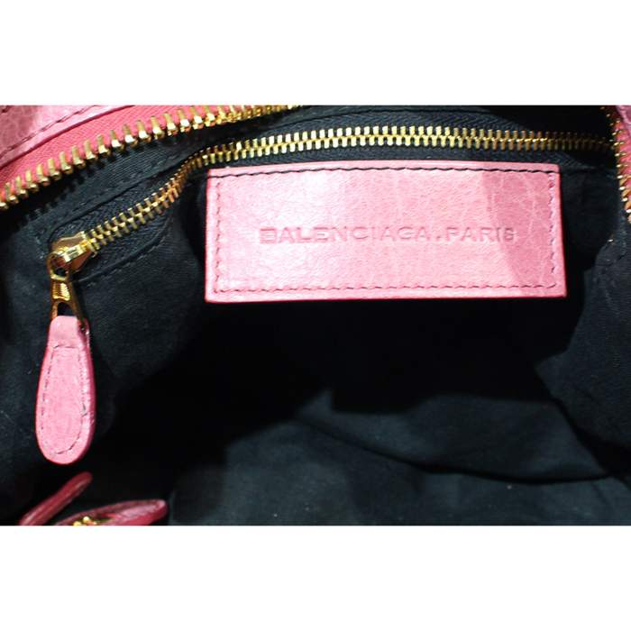 Pink leather city Bag-10