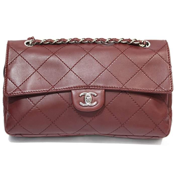 Jumbo leather bordeaux Bag-0