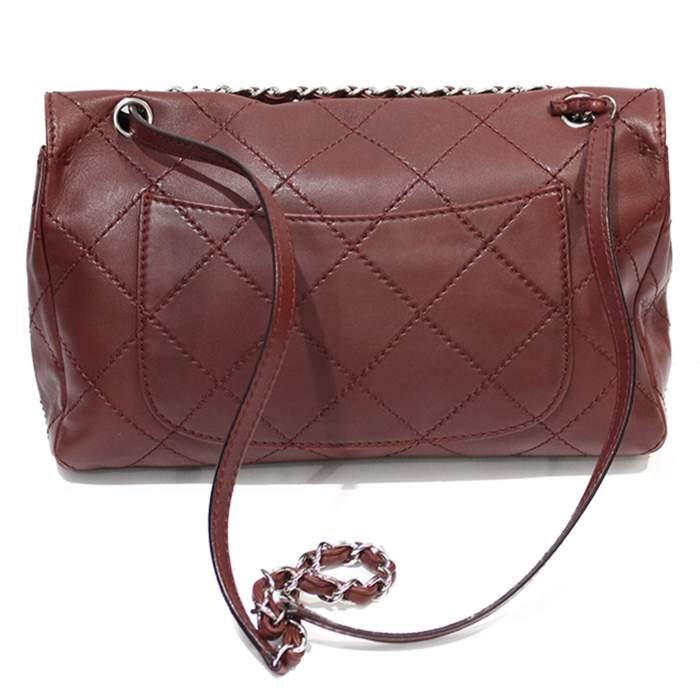 Jumbo leather bordeaux Bag-2