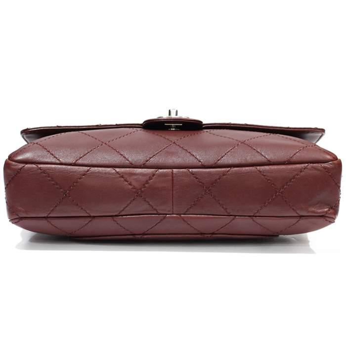 Jumbo leather bordeaux Bag-4