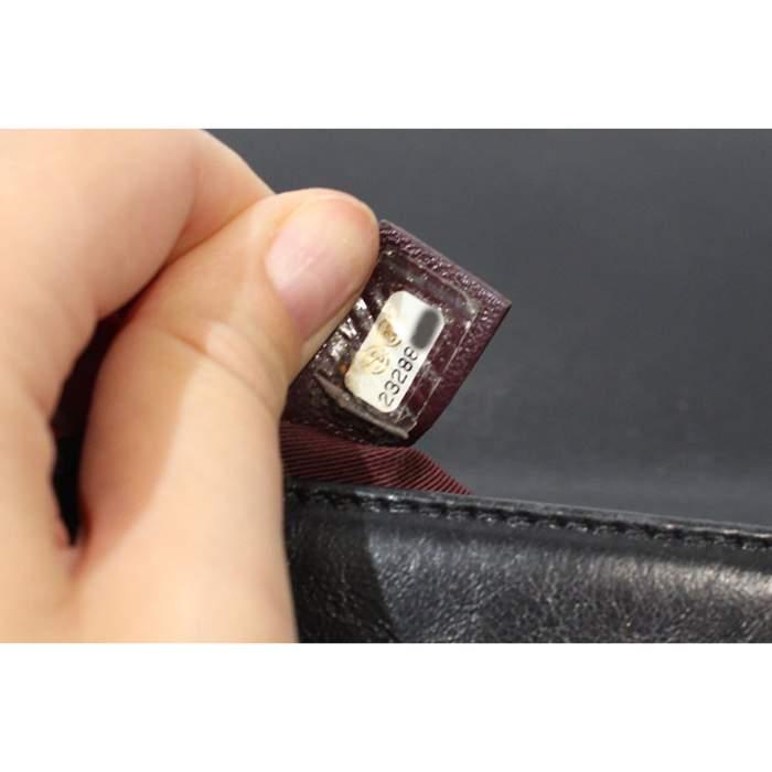 Black leather Boy Bag-8