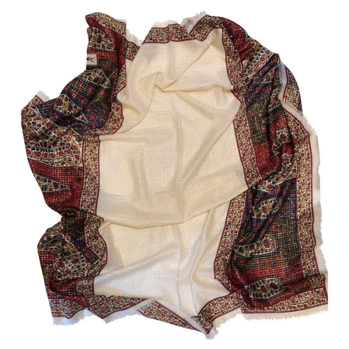 Silk and wool Scarf-4