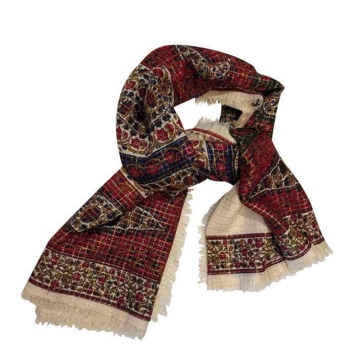 Silk and wool Scarf-0