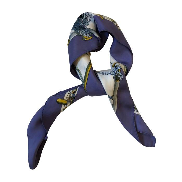 Purple and blue Scarf-2