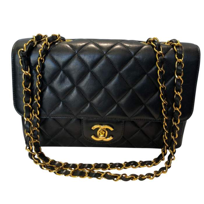 Vintage Black quilted leather Bag-0