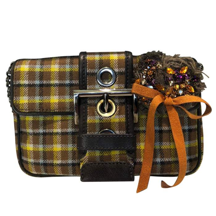 Small plaid wool Bag-0