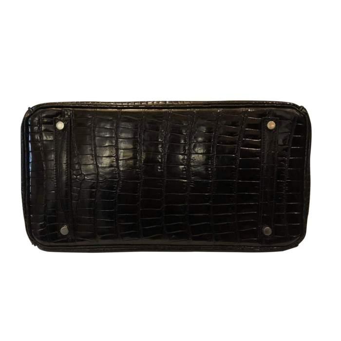 Vintage Black crocodile porosus Birkin-6