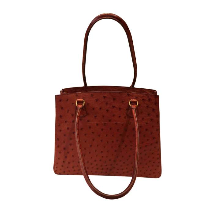 Dark orange ostrich Bag-2