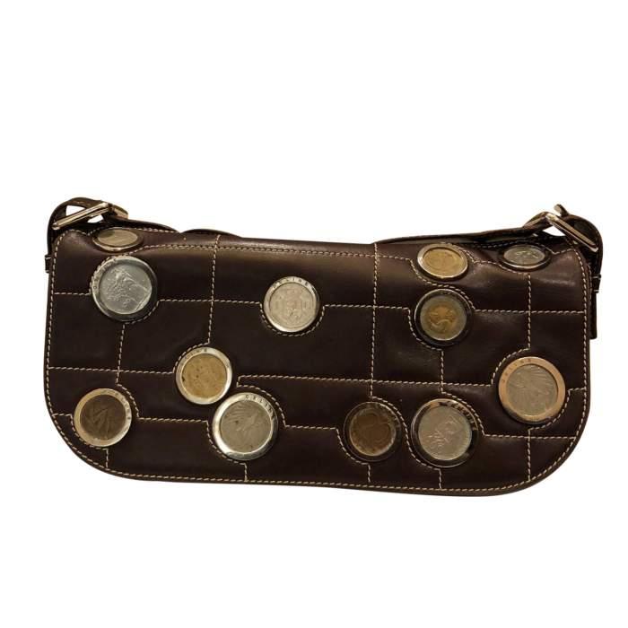 Brown leather Bag-0