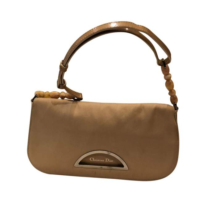 Beige canvas Handbag-0