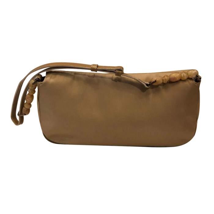 Beige canvas Handbag-2