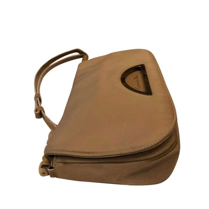 Beige canvas Handbag-4