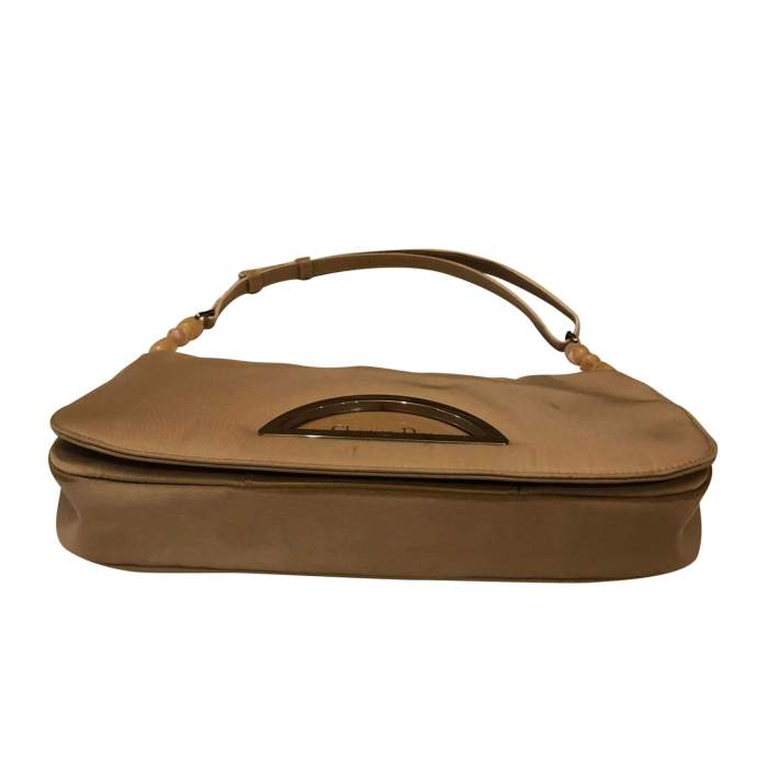 Beige canvas Handbag-6
