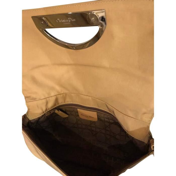 Beige canvas Handbag-8